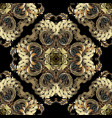 luxury gold baroque 3d seamless pattern elegance vector image vector image