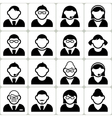 Male and Female User Icons Set vector image vector image