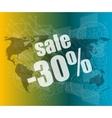 Management concept sale words on digital screen vector image vector image