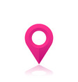 map pointer location icon pink pin on white vector image vector image