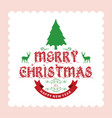 merry chrsimtas with light background vector image vector image