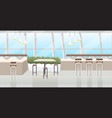 modern cafe interior empty no people restaurant vector image vector image