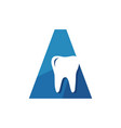 new dentist stomatology dental clinic logo on the vector image