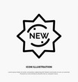 new product sticker badge line icon vector image