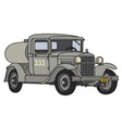 Old tank truck vector image vector image