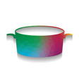 pan sign colorful icon with bright vector image vector image