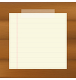 Paper On Wooden Brown Background vector image vector image