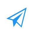 paper plane logo icon design vector image