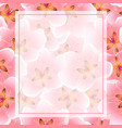 peach cherry blossom banner background vector image vector image