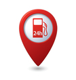 petrol station 24h RED pointer vector image vector image
