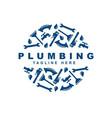 plumbing icon set logo design template vector image