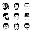 portrait photography icons vector image vector image