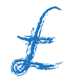 Pound Sign Brushed vector image vector image