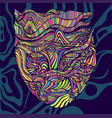 psychedelic trippy bright anthropomorphic face vector image