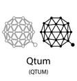 qtum black silhouette vector image vector image