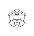 real estate view line outline icon vector image