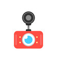 red car dvr icon vector image vector image