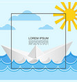 sea travel light concept vector image vector image
