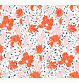 seamless rose pattern with spring flowers vector image