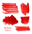 set of bloody red pink watercolor hand painted vector image vector image