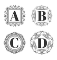 Set of classical logo or monogram design Letters vector image vector image