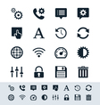 Setting icon set simplicity theme vector image vector image
