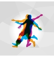 silhouettes soccer players vector image vector image