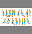 skiing male in action man on skis winter vector image