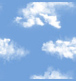 sky pattern cloudy backdrop and blue vector image vector image