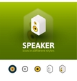 Speaker icon in different style vector image vector image