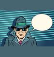 spy secret agent vector image vector image