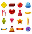 sweets cakes icons set cartoon style vector image vector image