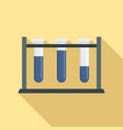 test tube on stand icon flat style vector image vector image