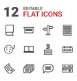 text icons vector image vector image