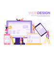 the web design structure and is social public vector image vector image