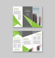 tri-fold business brochure template design vector image vector image