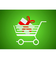 Trolley with a gift inside vector | Price: 1 Credit (USD $1)