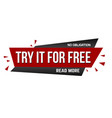 try it for free banner design vector image vector image