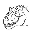 tyrannical dragon icon doodle hand drawn or black vector image