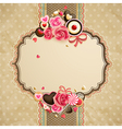 valentines day vintage lace card vector image vector image