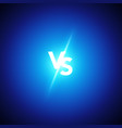versus logo vs letters battle match game concept vector image vector image