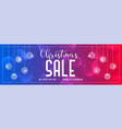 vibrant shiny christmas sale banner design vector image