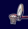 vintage retro basketball hoop