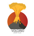 volcanic spewing fish icons vector image