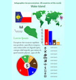 wake island infographics for presentation all vector image vector image