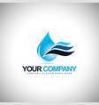 Water Drop Icon Logo vector image