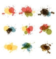Watercolor hand painted circles set spot vector image vector image