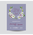 Wedding Card Lily and Anemone Flowers
