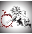 with baroque lion in Victorian style vector image