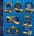 blue royal labeles blanck vector image